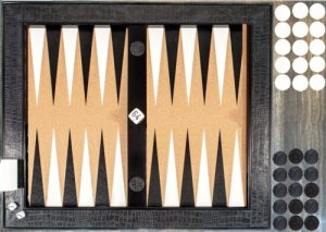 backgammon set up demo board